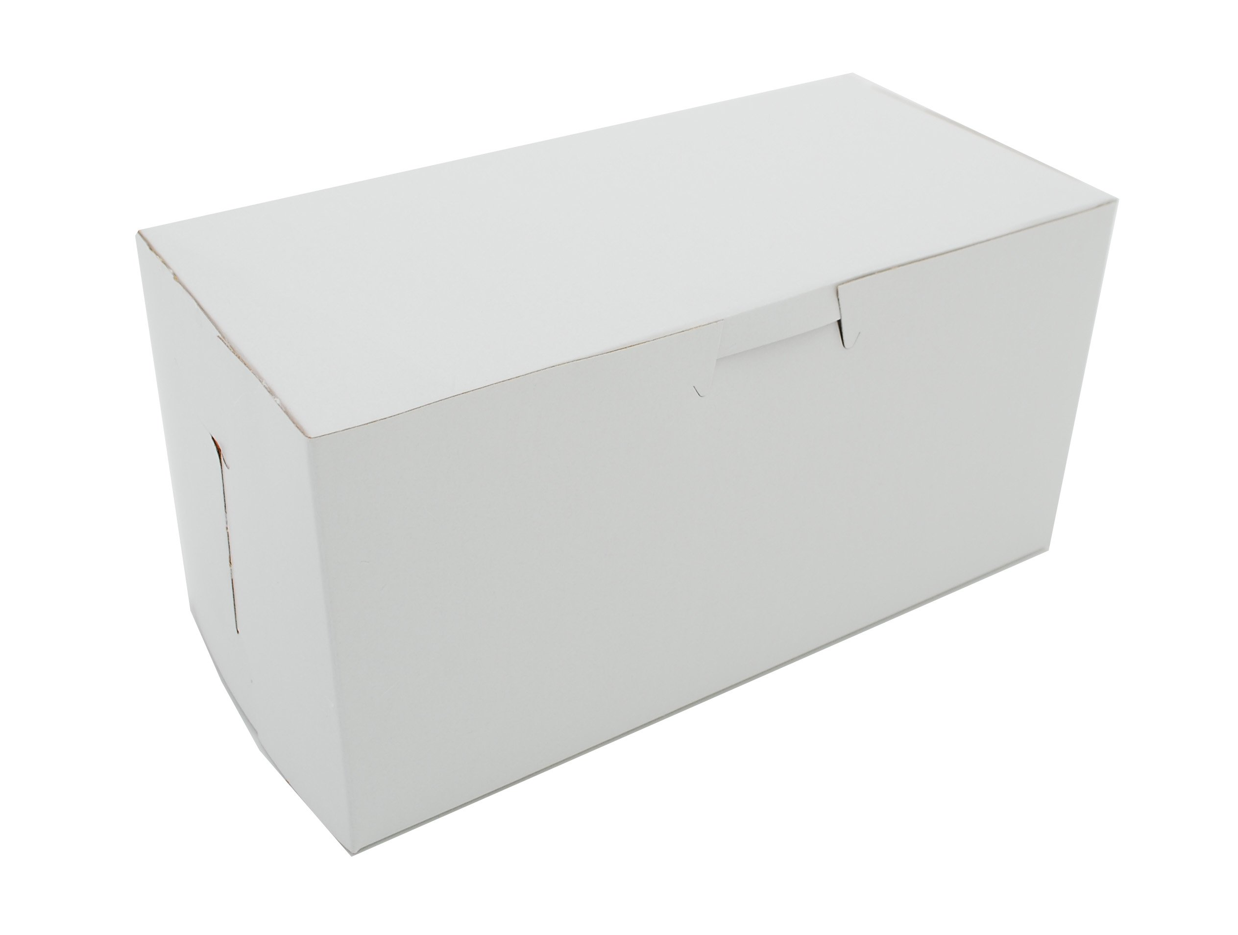 Southern Champion Tray 0924 Premium Clay Coated Kraft Paperboard White Non-Window Lock Corner Bakery Box, 8'' Length x 4'' Width x 4'' Height (Case of 250)