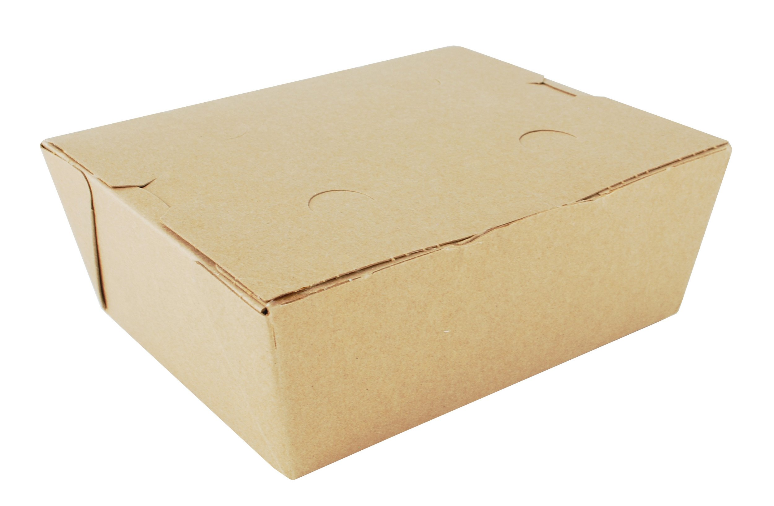 Southern Champion Tray 0738 #8 ChampPak Classic Take-Out Container, Kraft Paperboard with Poly Coated Inside, 6'' L x 4-3/4'' W x 2-1/2'' H (Case of 300)