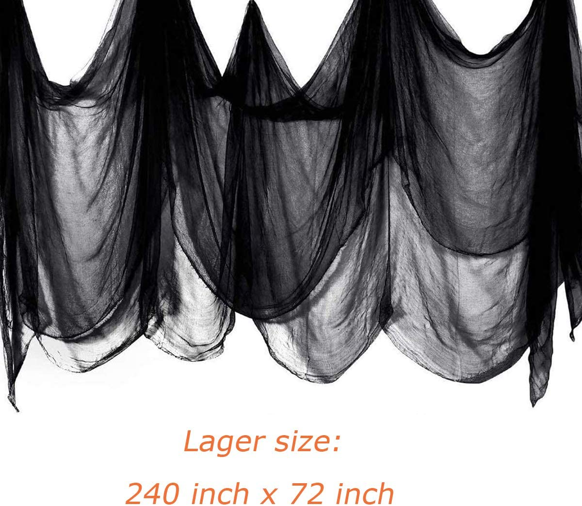 Halloween Black Creepy Cloth Spooky Halloween Decorations for Haunted House Doorways Windows Indoor