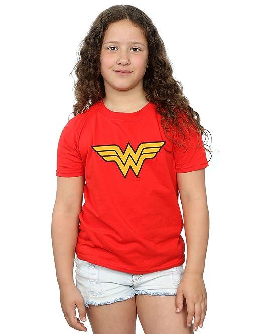 DC Comics niñas Wonder Woman Logo Camiseta  Amazon.es  Ropa y accesorios f54f154cce1d6