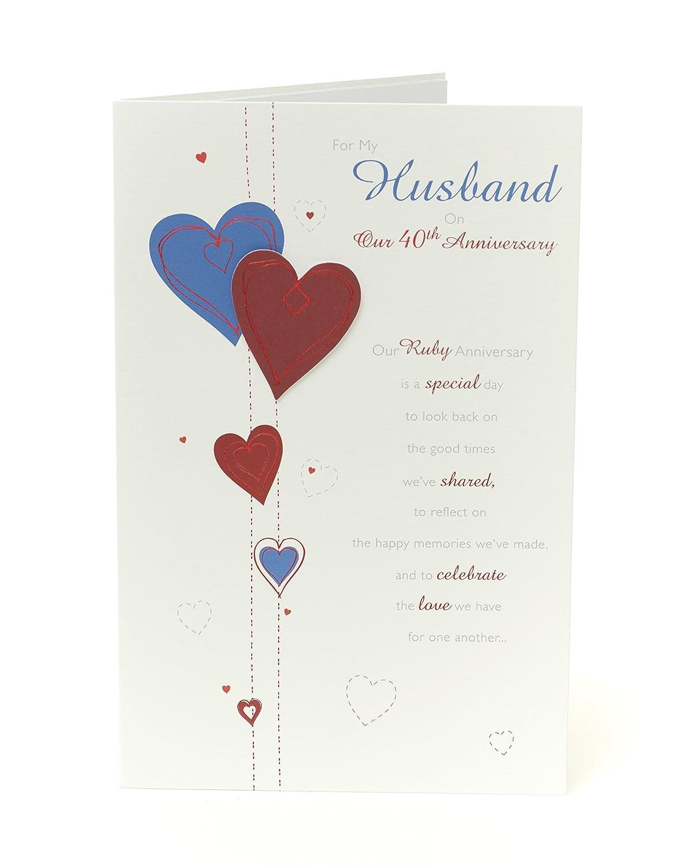 40th Wedding Anniversary Card Husband - Ruby Wedding Anniversary Card Husband - Ideal Gift Card for Wedding - 40th Anniversary - Ruby Anniversary Gifts ...  sc 1 st  Amazon UK & 40th Wedding Anniversary Card Husband - Ruby Wedding Anniversary ...