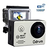 HD 1080P Wifi Sports Camera Waterproof Diving 30M Mini DV 170 Degree Wide Angle Car Recroder 2.0inch LCD Display Dash Cam with 2PCS Battery, Helmet Cam Bicycle Action Camera for Biking, Riding, Racing, Skiing, Motocross And Water Sports (OD7200 SLIVER)