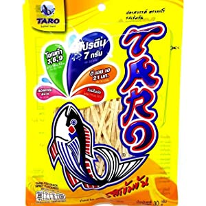 TARO-Thai Fish Snack Dried Food Low Fat Spicy Flavored (Pack of 6)