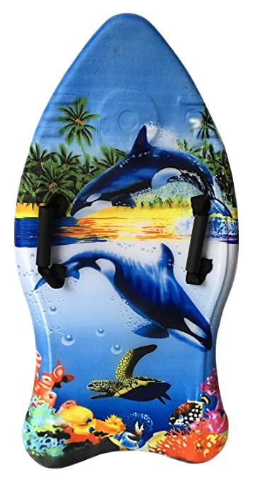 Idena 40311 - Surfboard mit Handschlaufen, Orca, ca. 93 cm