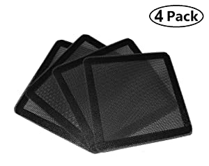 AIYUE 120mm Magnetic Frame PC Fan Dust Filter Dust Filter Fan Filter PC Cooler Filter Black Dustproof Case Cover Computer Mesh Computer Fan Grills 4 Pack…