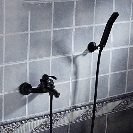 Bijjaladeva Antique Bathroom Rain Mixer Shower tap Set Rainfall ...