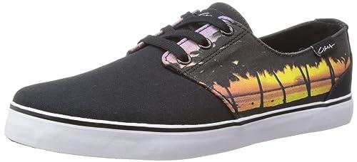 C1RCA Mens Crip Skateboarding Shoes, Black (Z (Black/Sunse), 7