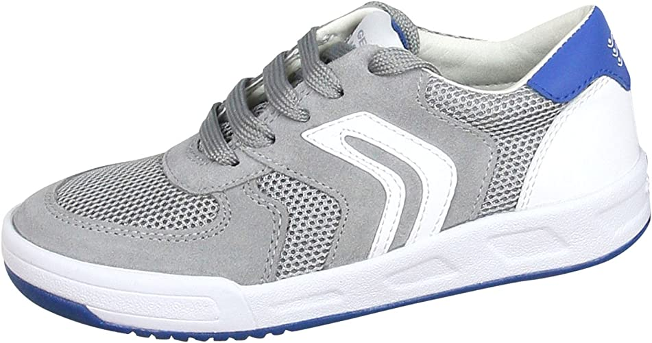 Geox Kids Shoes Sneakers J ROLK in Gray Canvas J620SB 01422