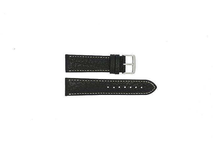 Gant (modelo de sustitución) correa de reloj W70431 Piel Negro 22mm + costura blanca(Sólo reloj correa - RELOJ NO INCLUIDO!): Amazon.es: Relojes