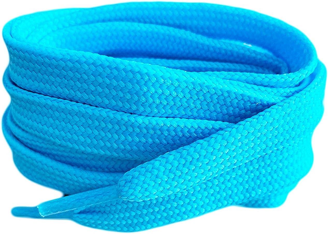 Light Blue Coloured Smart Laces® Flat