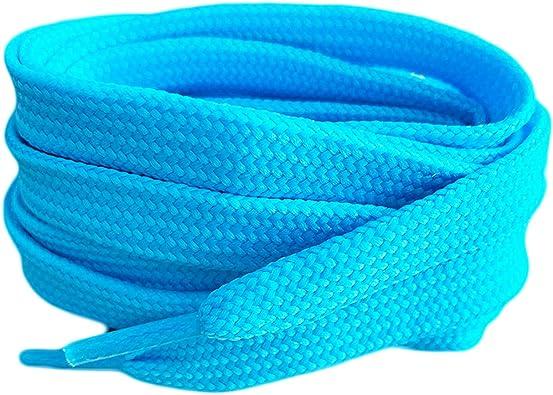7-11mm replacement bootlaces SNORS SHOELACES flat laces LIGHT BLUE 60-240cm
