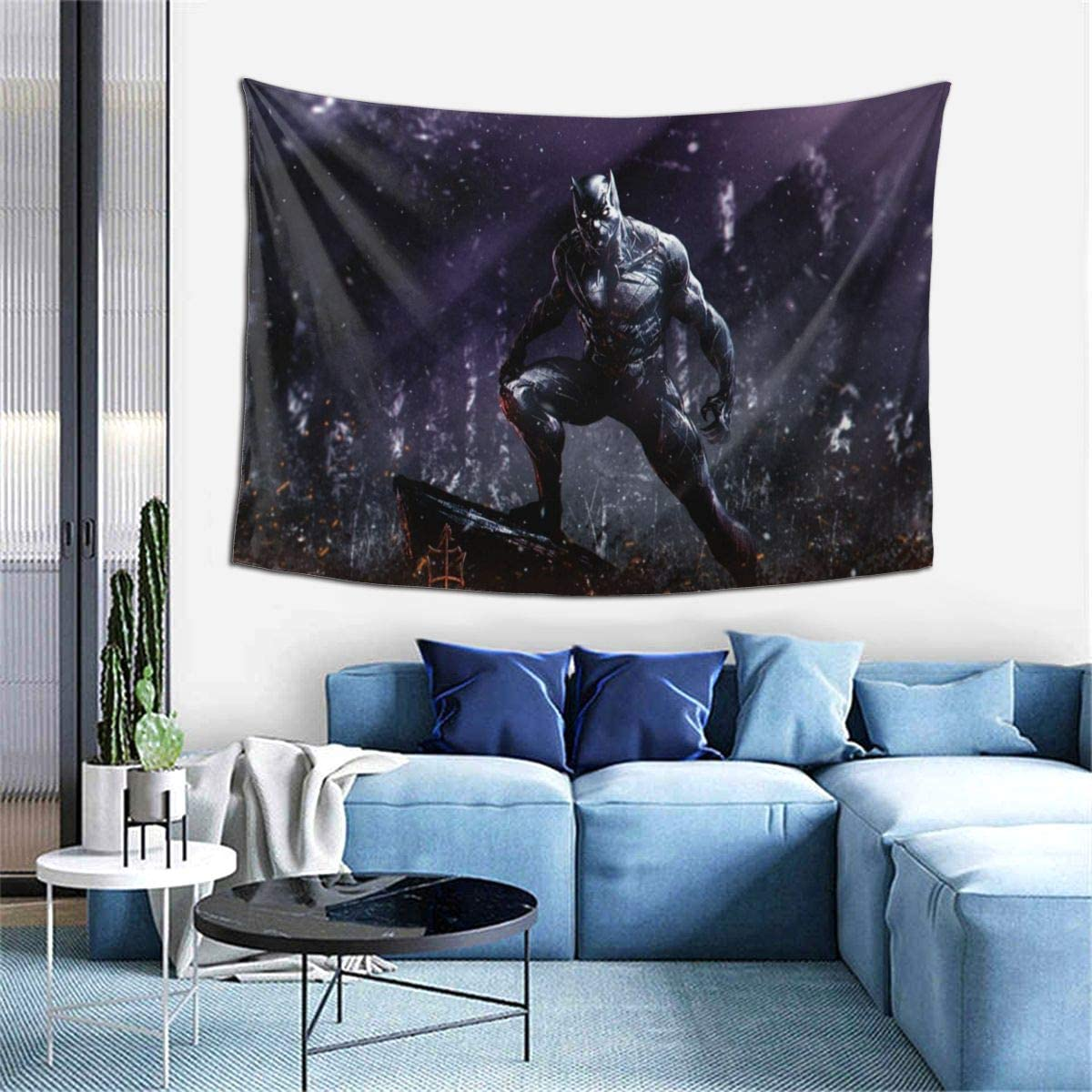 Ripepin Tapestry Black Panther Tapestry Wall Hangings Decor for Living Room and Bedroom