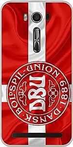 ColorKing Football Denmark 05 Red shell case cover for Asus Zenfone 2 Laser ZE550KL
