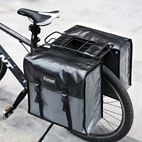 Femor - Bolso doble portaequipajes de bicicleta de almacenaje ...