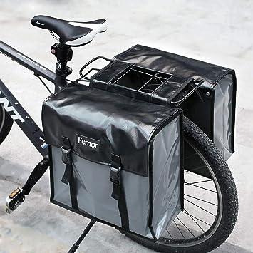 con faro PedalPro portacesto posteriore regolabile per biciclette Argento