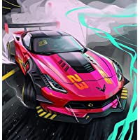 Bimkole DIY 5D Diamond Painting Pink Car by Number Kits Paint with Diamonds Arts Full Drill Canvas Picture for Home…