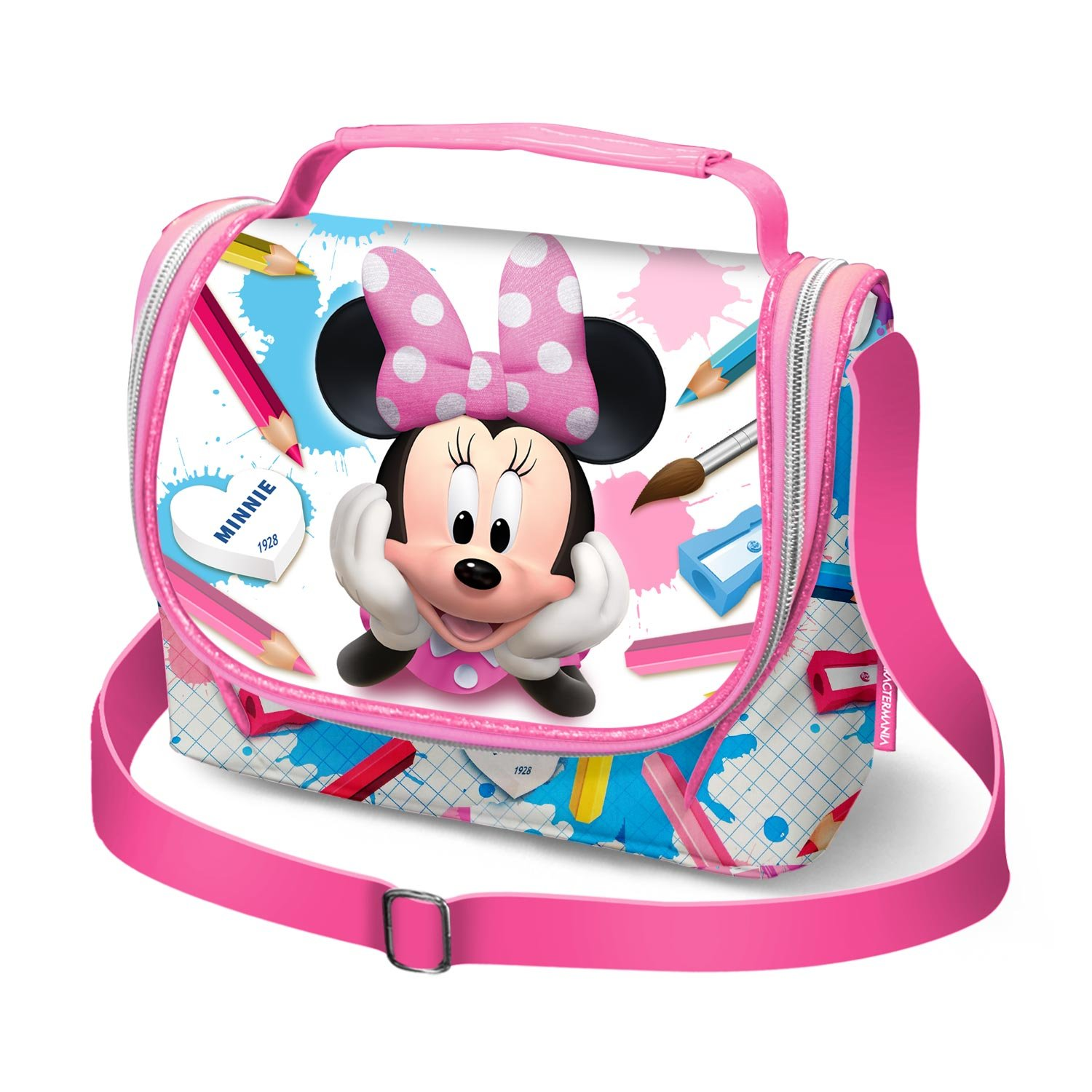 Karactermania Minnie Mouse School-Girls Lunch Bag Cartable, 24 cm, Rose (Pink) 37706