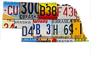 product image for NEBRASKA License Plate Vintage Plasma Cut Map Sign, CORNHUSKERS STATE Metal Sign Garage Art Great Gift Man Cave Plasma Cut Aluminum UV Printed Rustic Sign Birthday Gift Patriotic Sign Holiday Gift