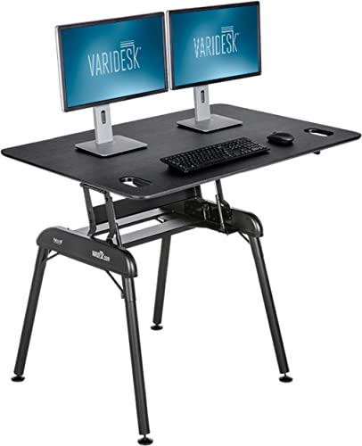 VARIDESK – Pro Desk 48 Full Standing Desk – 9 Height Settings Black