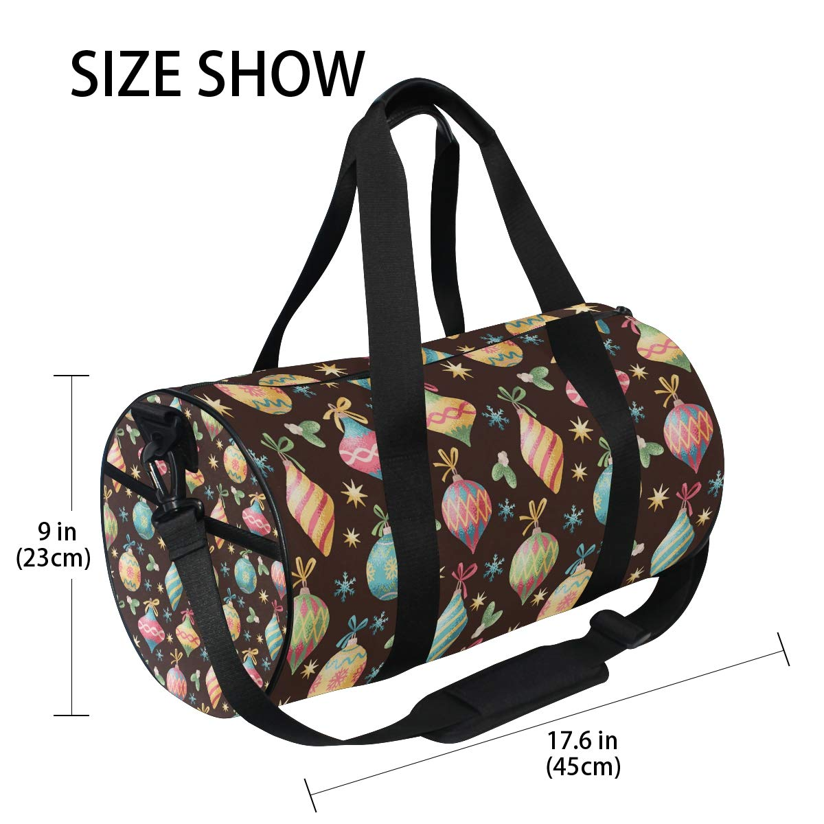 Waterproof Shoulder Bag. Christmas Peppermint Candy Snowman Popular casual fitness bag,Non-Slip Wearable Crossbody Bag