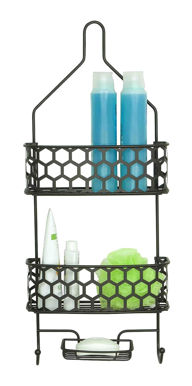 low-cost Home Basic SC41121 Shower Caddy Honeycomb - disbri2013srl.com