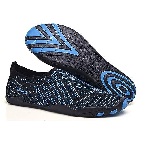 Yooeen Hombres Mujeres Zapatos de Agua Zapatillas de Playa Descalzo Secado Rápido Zapatos de Natación Transpirable