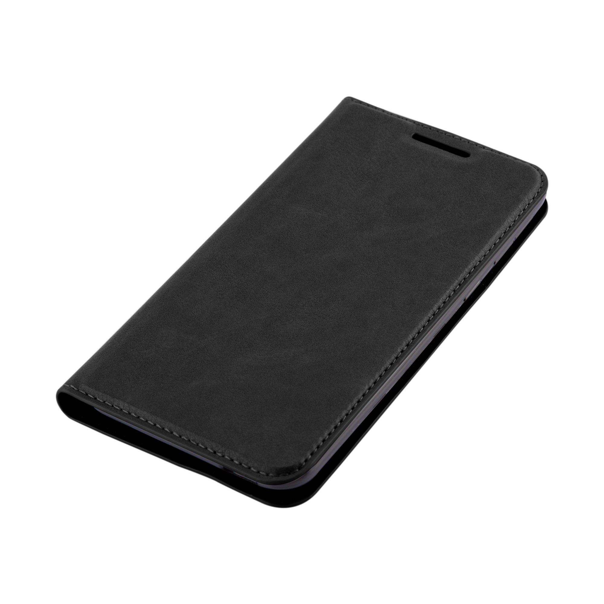 Cadorabo Case works with HTC DESIRE 820 Book Case in NIGHT BLACK (Design INVISIBLE CLOSURE) – with Magnetic Closure, Stand Function and Card Slot – Wallet Case Etui Cover PU Leather by Cadorabo (Image #8)
