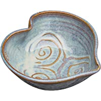 Castle Arch Pottery Ireland Irish Pottery Bowl Hand-Glazed, Heart Shaped Design 6 Diameter by 2 Height with Celtic Spiral Motif