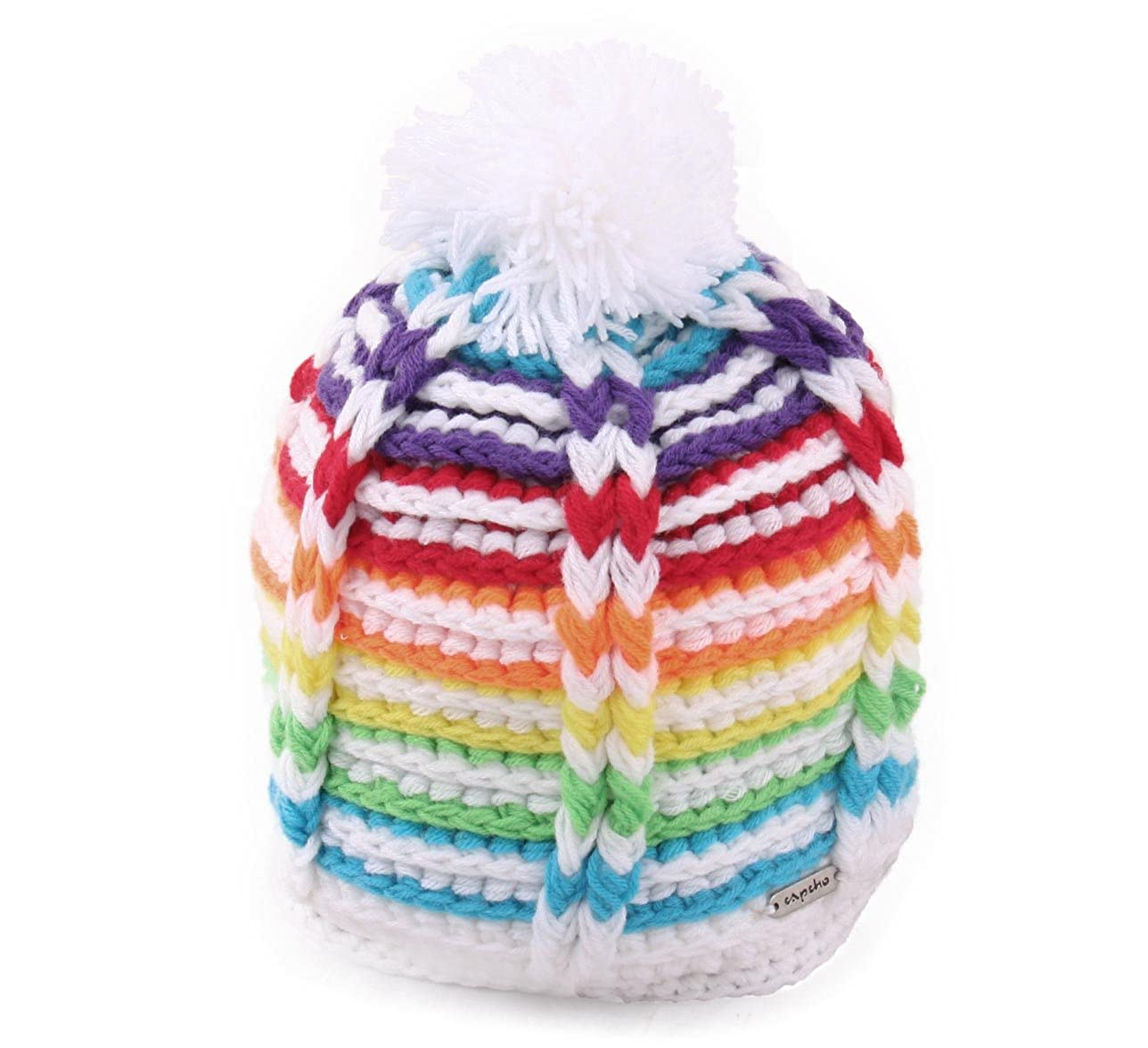 Capcho Big Boys Kid1 Pom Beanie