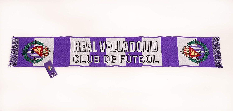 REAL VALLADOLID CLUB DE F/ÚTBOL Bufanda Acr/ílica g/énero Blanco y Morado No predeterminado
