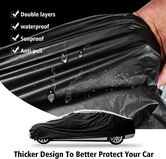 NIBESSER B/âche Voiture Exterieur Imperm/éable Housse de Voiture Protection Auto /Étanche R/ésistant /à la Neige Couverture Voiture Durable Respirant