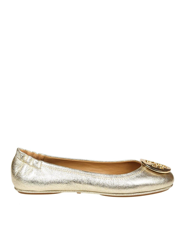 Tory Burch Damen 50522723 Gold Leder Ballerinas  | Sale Düsseldorf