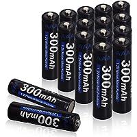 XINGWEI Oplaadbare AAA-Batterijen, 16 Stuks 300mAh 1,2 V Ni-MH 1200 Cyclus Gebruik Batterijen voor Zonne-energie…