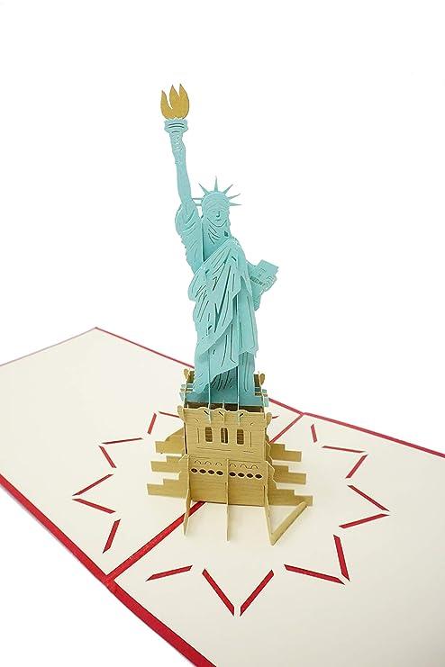 Amazon.com: New York City – Tarjeta de felicitación 3D para ...