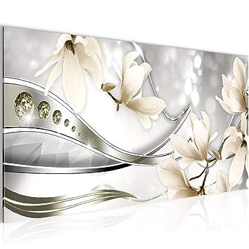 Amazon.de: Bilder Blumen Magnolien Wandbild Vlies - Leinwand Bild ...