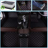muchkey car Floor Mats fit for Tesla Model 3 2019 Custom fit Luxury Leather All Weather Protection Floor Liners Full car Floor Mats