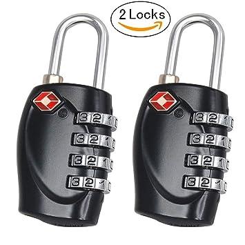 4 dígitos Aulola® viaje maleta de equipaje candado TSA código Pin/número de candado seguridad comprobar y re-Lock sin daños: Amazon.es: Bricolaje y ...