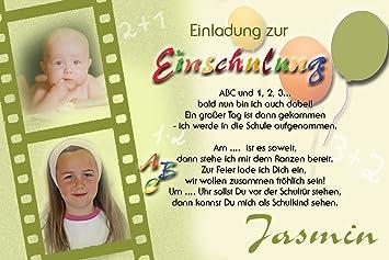 Individuelle Fotokarten Als Einladung Zur Einschulung, Einschulungskarte,  Einladung Zur Einschulung Im Format 10x15 Cm