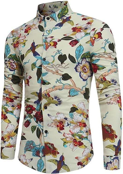 RRINSINS Mens Casual Slim Solid Button Down Shirts Long Sleeve Shirt