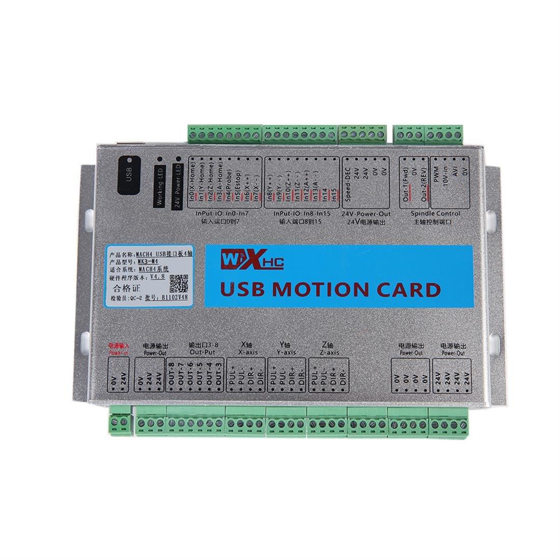 【大放出セール】 SHINA B07DS3CY4K CNC MACH4用 コントローラ 4軸 USB コントロールカード SHINA MACH4用 イーサネットモーション コントロールカード アプリケーション 新バージョン B07DS3CY4K MK6-M4 MK6-M4, 2019人気No.1の:e463be5a --- itourtk.ru