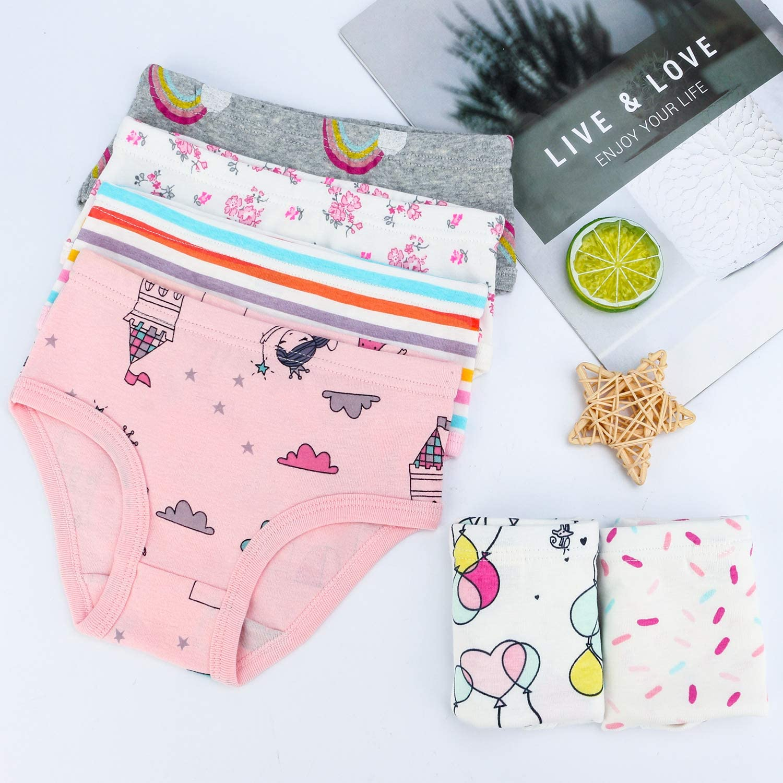 BOOPH GirlsPanties Underwear Rabbit Boy Shorts Hipster Kids Briefs 2-11 Years