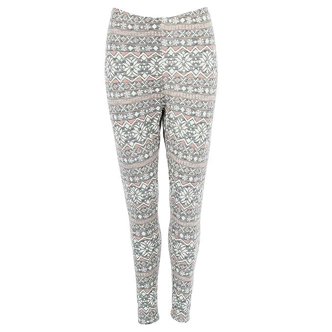013d0bedd5a94 Just One Women s Plus Size Fleece Lined Snowflake Print Leggings