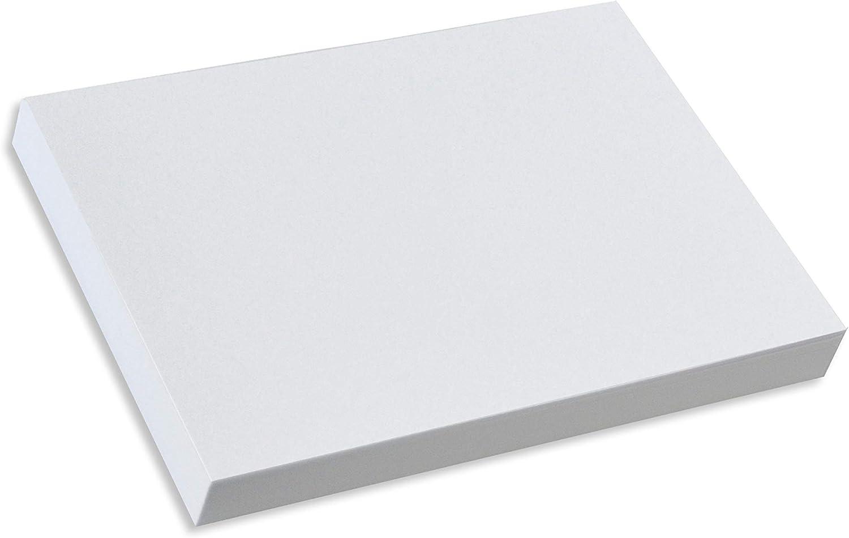 Home Advantage Set of 50 Blank Plain White 5x7 Index Cards, Postcards