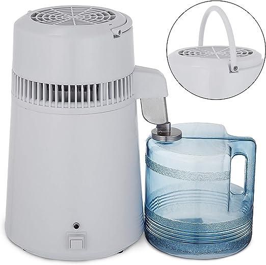 Anhon Destilador de Agua Purificador Water Distiller Destilador de Agua Pura Filtros Destilación de Agua 4L de Acero ...