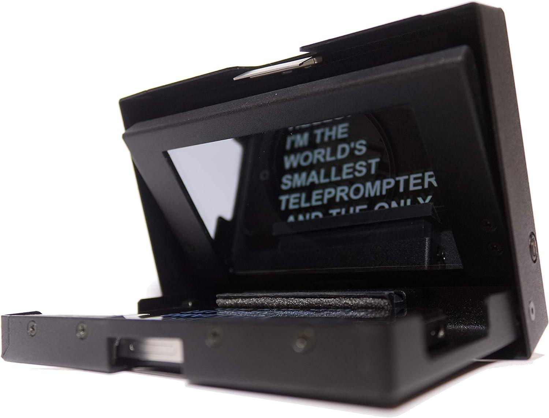 MicroPrompter - Televisor portátil Profesional más pequeño del Mundo para Grabar vídeos en tu Smartphone, videocámara o cámara réflex Digital pequeña: Amazon.es: Electrónica