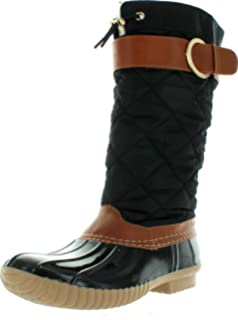 ae0acaa9b5e0 NyVip Women s B7777 Tall Duck Boot Rain   Snow Boot with Sherpa Lining and  Quilted Canvas