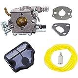 Podoy 136 carburetor for Husqvarna Chainsaw 530071987 with Air Filter Fuel Filter Fuel Line for 36 41 141 137 141 142 Chainsaw Parts Walbro WT-834 WT-657 WT-529 WT-289 WT-285 WT-239 WT-202