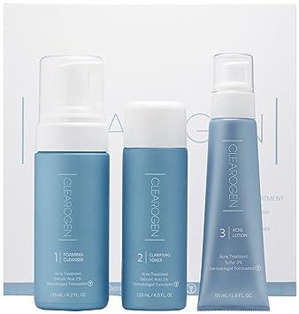 Clearogen Hormonal Acne Solution Natural Anti-DHT Ingredients Deluxe Set  Sensitive Skin Formula Sulfur –
