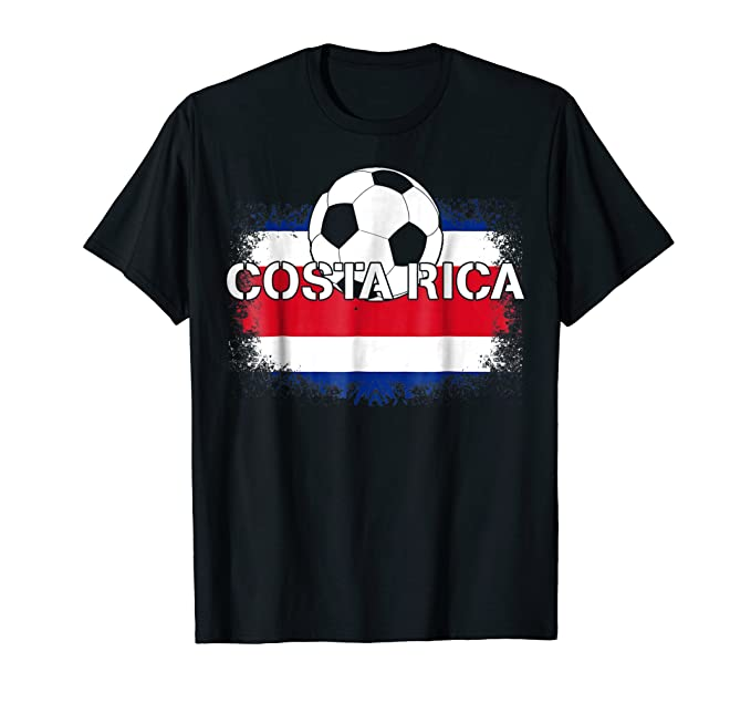 Mens Camiseta Futbol Costa Rica - Costa Rican Soccer T-Shirt 2XL Black