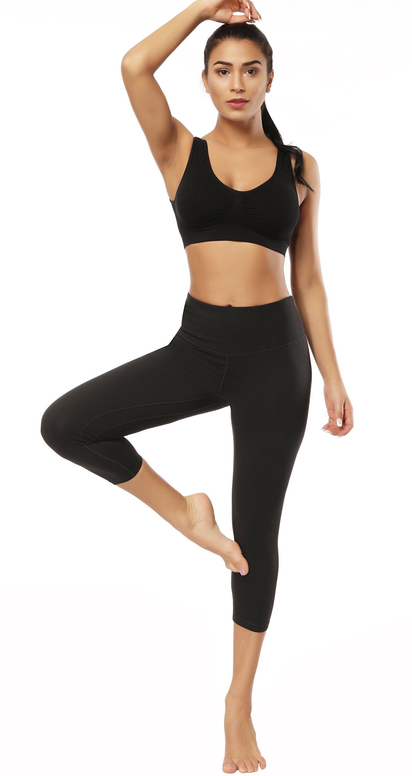 Fengbay Capris Leggings, Capris Yoga Pants Tummy Control Workout Running 4 Way Stretch High Waist Capris Workout Leggings by Fengbay (Image #5)